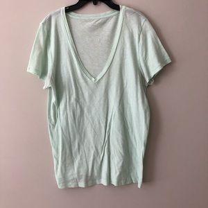 J.CREW Mint green T-shirt